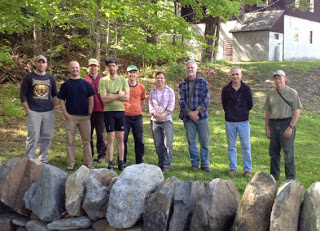 dry stone wall workshop group photo