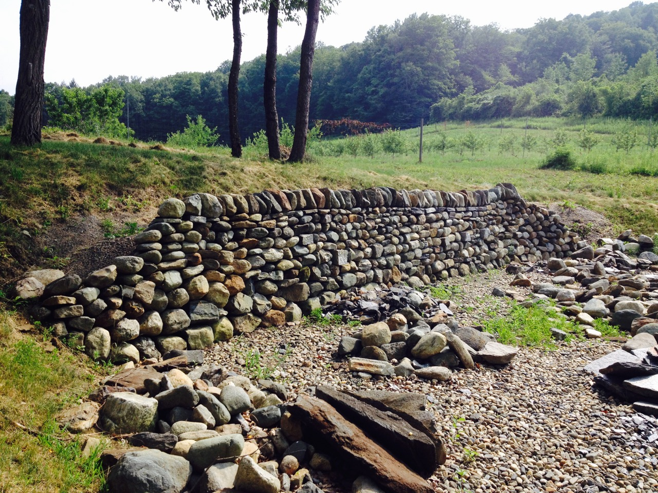 Advanced Dry Stone Feature: Retaining Wall